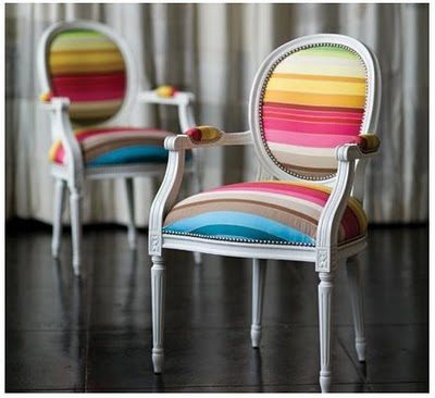 Striped+chair